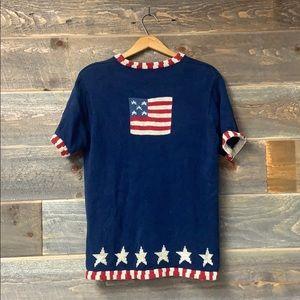 Quaker Factory Patriotic Flag USA Stars Sweater